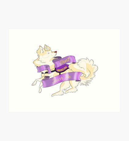 "Sassy Service Dogs | ""Don't Touch Me"" Pomeranian Art Print"