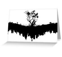 Urban Faun - Black on White Greeting Card