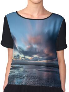 Ainsdale Beach Sunset Chiffon Top