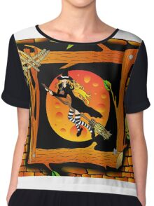 Witch Portrait Chiffon Top