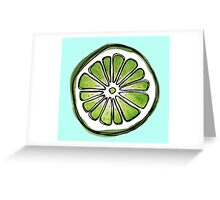 lime watercolor  Greeting Card