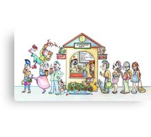 Coffee King Cafe Canvas Print
