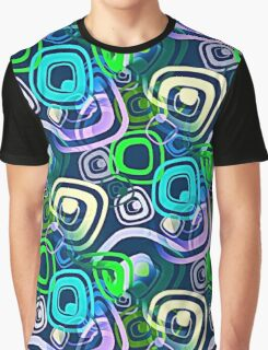 Retro Psychedelic Hippie Neon Colors Graphic T-Shirt