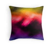 Colorful Abstract Art Throw Pillow