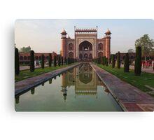 The Taj Mahal Main Entrance Gates Canvas Print