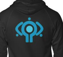 serial experiment lain copland OS enterprise logo Zipped Hoodie