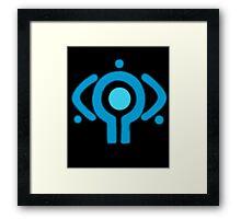serial experiment lain copland OS enterprise logo Framed Print