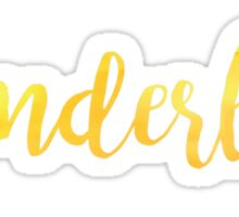 Wanderlust Yellow Sticker