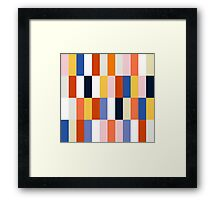 Nice Colorful retro Fashion Pattern Original Design Framed Print