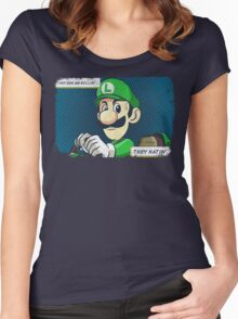 Death stare Women's Fitted Scoop T-Shirt