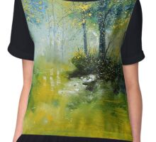 pond in the wood Chiffon Top