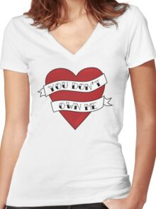 You don't own me Women's Fitted V-Neck T-Shirt