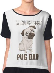 World's Best Pug Dad Chiffon Top