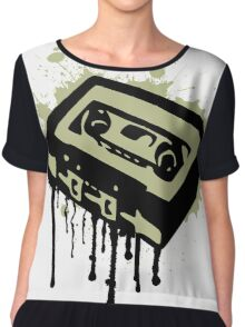 Cassette Splatter Chiffon Top