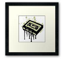 Cassette Splatter Framed Print