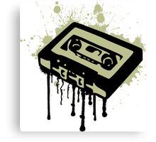 Cassette Splatter Canvas Print