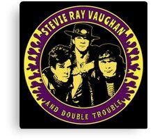 Stevie Ray Vaughan & Double Trouble Colour 2 Canvas Print
