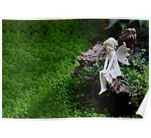 Fairy in the Garden Poster