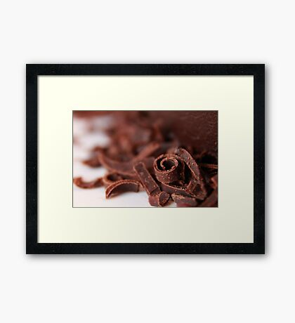 Chocolate Curl Framed Print