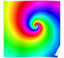 Multi-colored swirl Poster