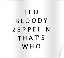 Led Bloody Zeppelin Poster