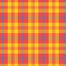Chic Bright Red, Yellow and Blue Plaid by Judy Adamson