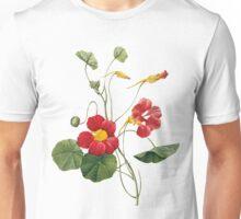 Vintage - Flower - Nasturtium -  Pierre Joseph Celestin Redouté Unisex T-Shirt