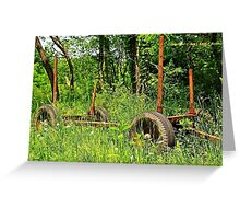 Rusty object Greeting Card