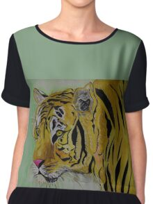 The Sad Tiger Chiffon Top