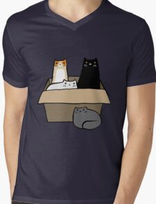 Cats in a Box Mens V-Neck T-Shirt