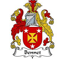 Bennet Coat of Arms / Bennet Family Crest Photographic Print