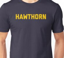 Hawthorn - gold block letters Unisex T-Shirt