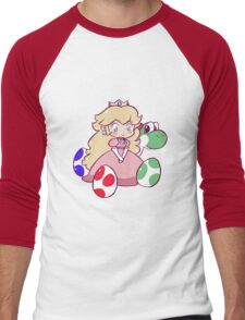 Little Peach and Yoshi Men's Baseball ¾ T-Shirt