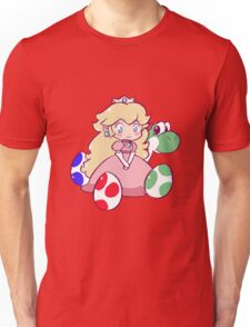 Little Peach and Yoshi Unisex T-Shirt