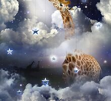 Shoot For The Moon (Giraffe In The Clouds) by soaringanchor