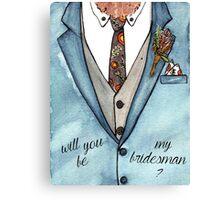 Bridesman Canvas Print
