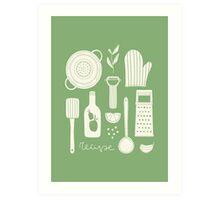 Cooking  Art Print