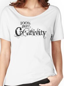 100% Pure Creativity Women's Relaxed Fit T-Shirt