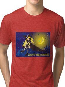 Witch On Cloud_blond Tri-blend T-Shirt