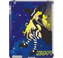 Witch On Cloud_blond iPad Case/Skin