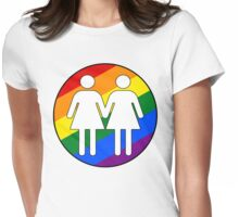 Girl + Girl Pride Womens Fitted T-Shirt