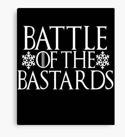 Battle of the Bastards #battleofthebastards Game Thrones Stark Bolton Snow Sansa Canvas Print