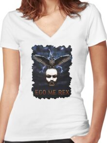 Eagle King Women's Fitted V-Neck T-Shirt