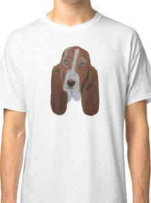 Portrait of a Basset Hound Classic T-Shirt
