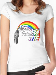 Set Phasers To Love Me Women's Fitted Scoop T-Shirt