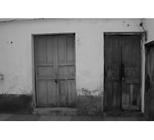 Wood Doors in a Wall Photographic Print