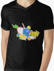 Hippie vintage style patches collection Mens V-Neck T-Shirt