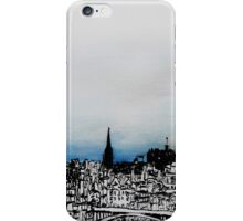 Drawing of Edinburgh with Chinese Ink and Watercolor iPhone Case/Skin