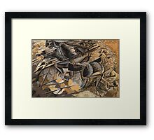 Charge Lancers - Cavalry Charge Framed Print