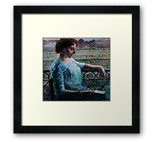 The Sister at the Balcony Framed Print